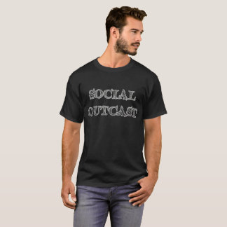 Social Outcast T-Shirt in gray distressed print