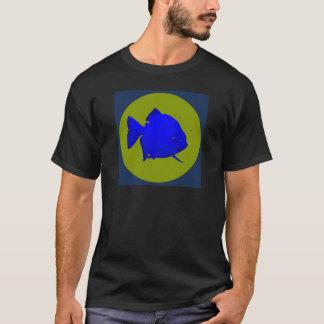 Social Piranha - SP disc logo with background T-Shirt