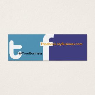 Social Profile Business Card tf 2.0 Back logo