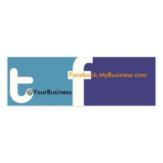 Social Profile Business Card tf 2.0 Back logo Upgr