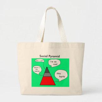 Social Pyramid Tote Tote Bags