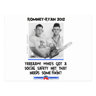 social safety net ryan romney tshirt.jpg postcard