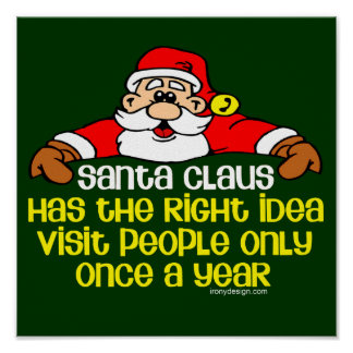 Social Santa Humor (Dark) Poster