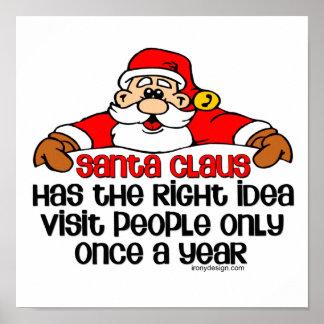 Social Santa Humor Poster