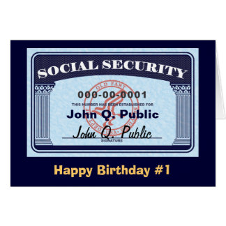 Social Security Card - change text
