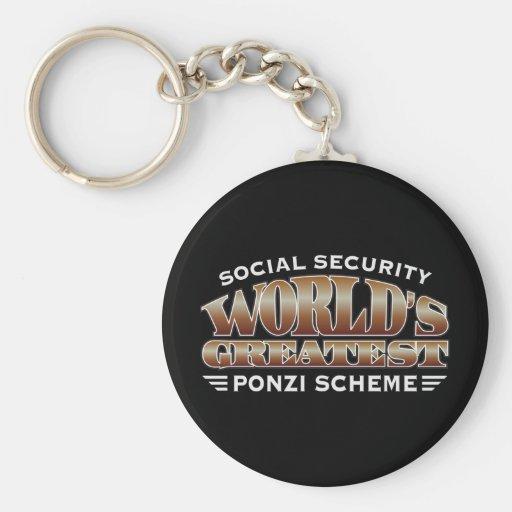 Social Security Ponzi Scheme Key Chain