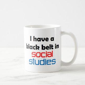 Social studies black belt coffee mug