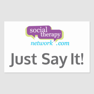 Social Therapy Network Just Say It! Sticker