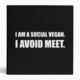 Social Vegan Avoid Meet 3 Ring Binders