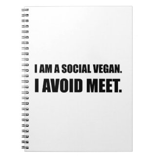 Social Vegan Avoid Meet Notebook