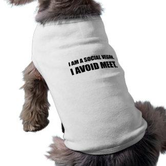 Social Vegan Avoid Meet Shirt