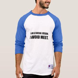 Social Vegan Avoid Meet T-Shirt