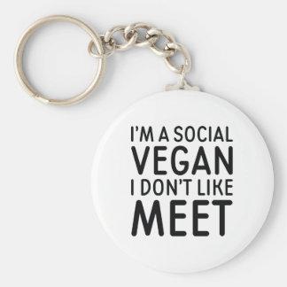 Social Vegan Keychain