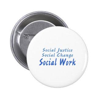 Social Work 2 Inch Round Button