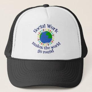 Social Work Makes the World Go Round Trucker Hat