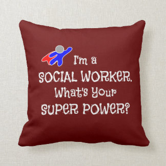 Social Worker and Super Hero Throw Pillow