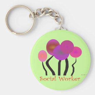 Social Worker Artsy Tree Design Gifts Keychain