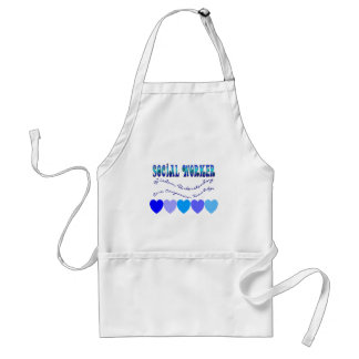 Social Worker BLUE HEARTS Adult Apron