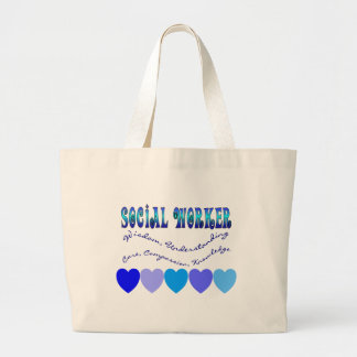 Social Worker BLUE HEARTS Jumbo Tote Bag