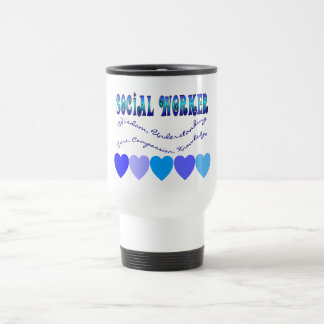 Social Worker BLUE HEARTS Stainless Steel Travel Mug