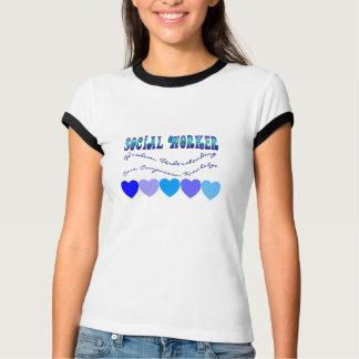 Social Worker BLUE HEARTS T-Shirt