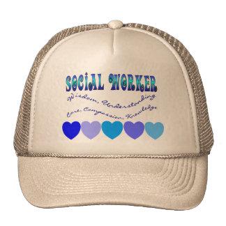 Social Worker BLUE HEARTS Trucker Hat