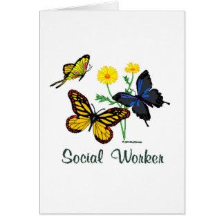 Social Worker Butterflies Card