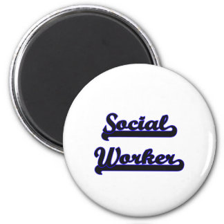 Social Worker Classic Job Design 2 Inch Round Magnet