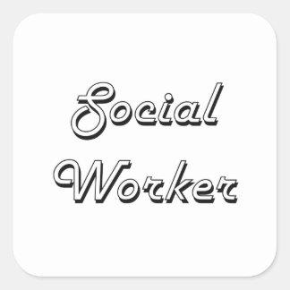 Social Worker Classic Job Design Square Sticker