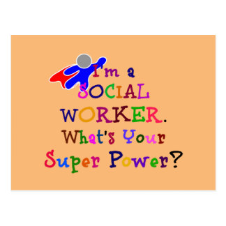 Social Worker Colorful Design Postcard