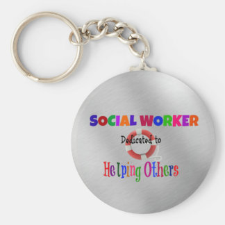 Social Worker Dedicated to Helping Others Keychain