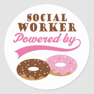 Social Worker Funny Gift Round Sticker