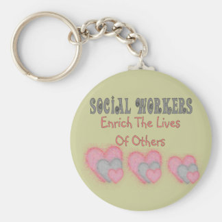 "Social Worker Gifts ""Enrich The Lives of Others"" Keychain"