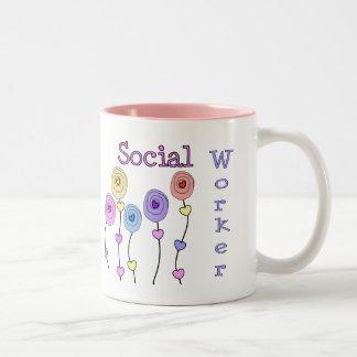 Social Worker Gifts Two-Tone Coffee Mug