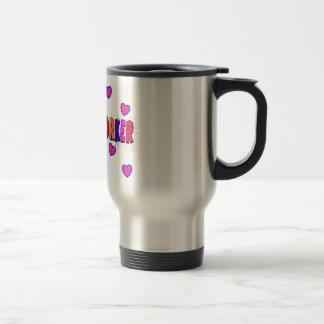 Social Worker HEARTS 15 Oz Stainless Steel Travel Mug