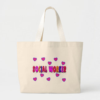 Social Worker HEARTS Jumbo Tote Bag
