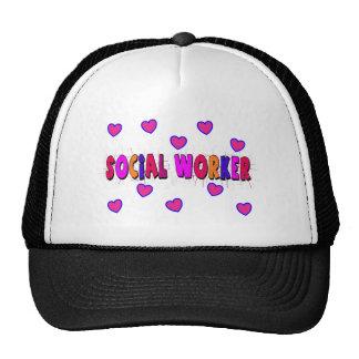 Social Worker HEARTS Trucker Hat