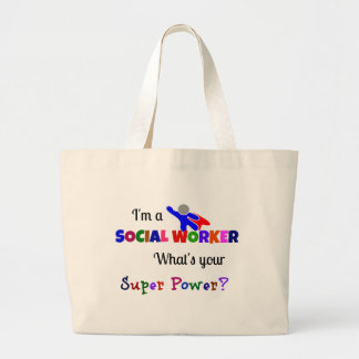 Social Worker Humor Large Tote Bag