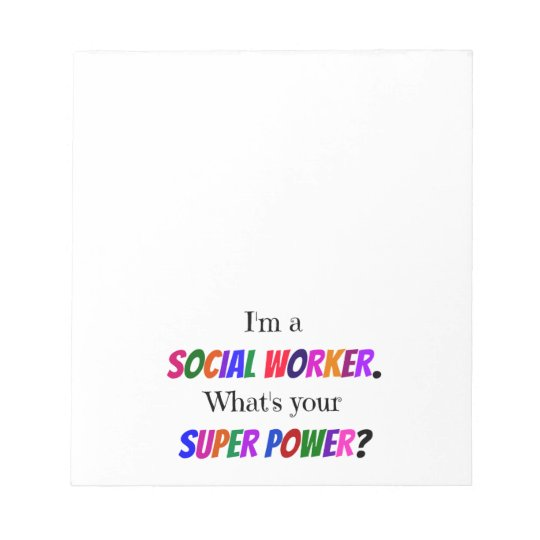 Social Worker Humour Notepad