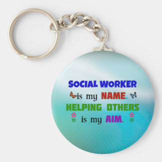 Social Worker is My Name Basic Round Button Keychain