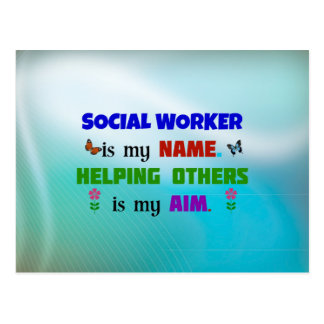 Social Worker is My Name Postcard