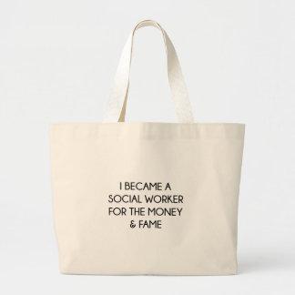 Social Worker Large Tote Bag