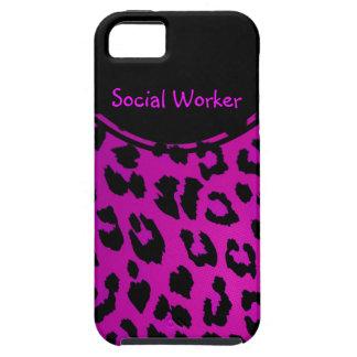 Social Worker Leopard iPhone 5 Case Pink
