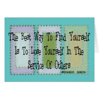Social Worker (Mahandas Gandhi Quote) Card