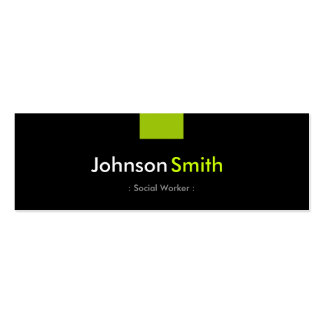 Social Worker - Mint Green Compact Pack Of Skinny Business Cards