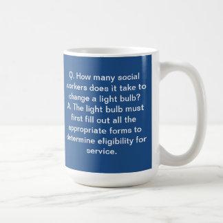 Social Worker Mug II with blue