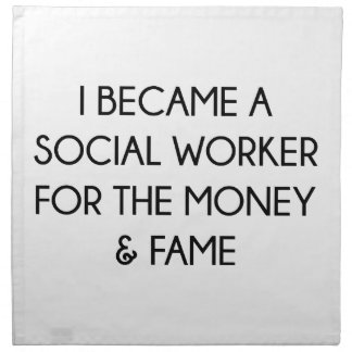 Social Worker Napkin