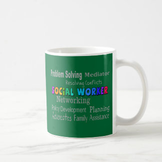 Social Worker Professional Duties Design Basic White Mug