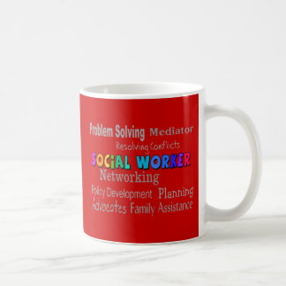 Social Worker Professional Duties Design Classic White Coffee Mug