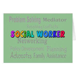 Social Worker Professional Duties Design Greeting Card